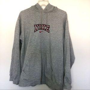 NIKE Sweatshirt Hoodie Gray Kangaroo Pockets M